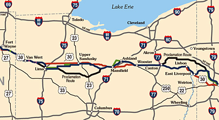 Could US In Ohio Become A Toll Road Books By Brian Butko - Cleveland ohio on us map